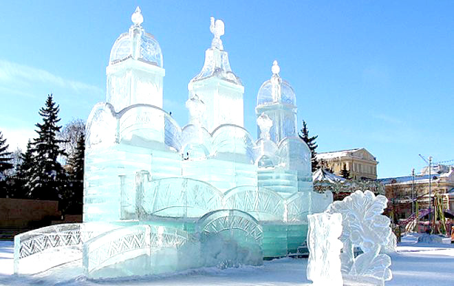 Город изо льда